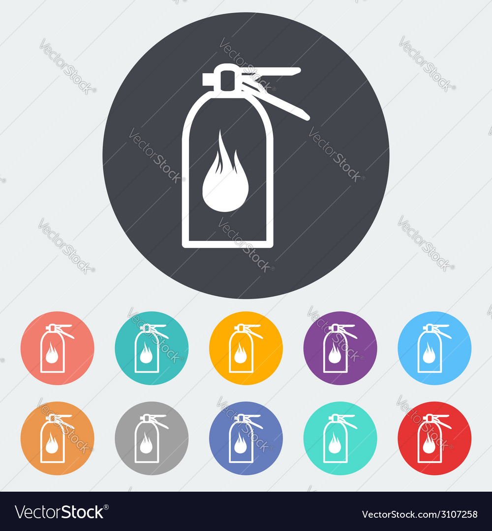 Fire extinguisher icon vector | Price: 1 Credit (USD $1)
