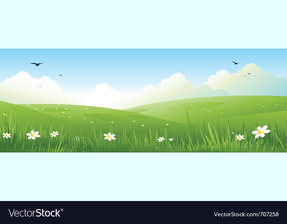 Nature landscape vector | Price: 1 Credit (USD $1)