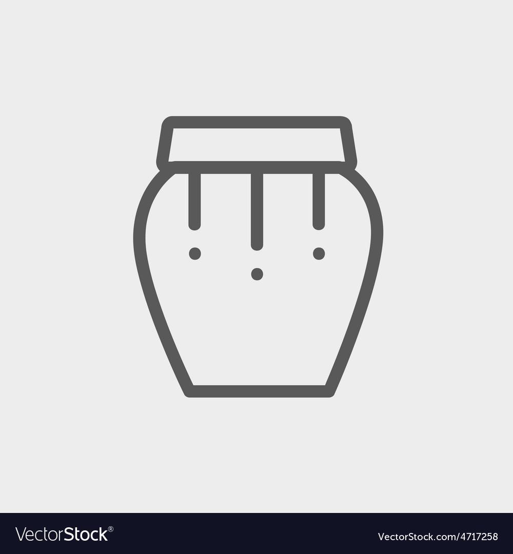 Percussion instrument thin line icon vector | Price: 1 Credit (USD $1)