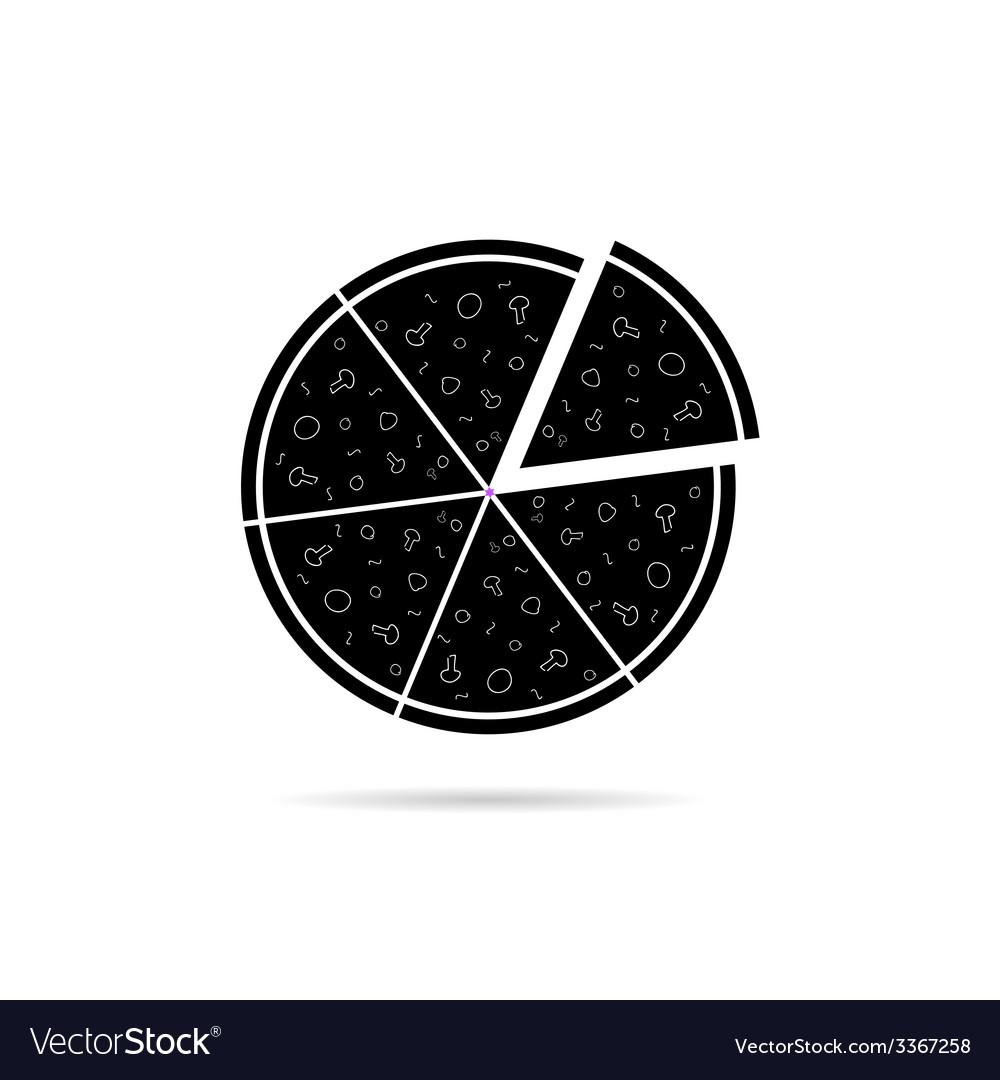 Pizza black icon vector | Price: 1 Credit (USD $1)