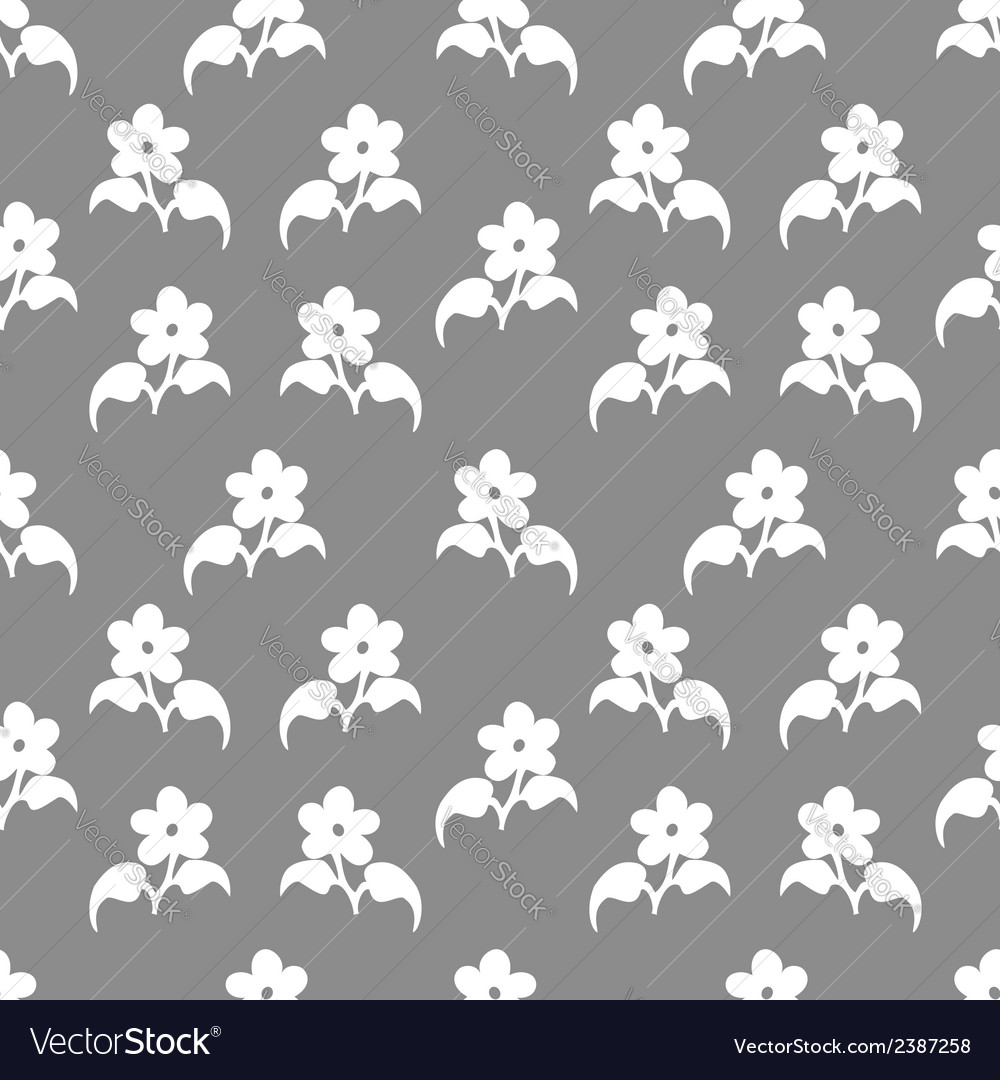Seamless pattern with flovers vector | Price: 1 Credit (USD $1)