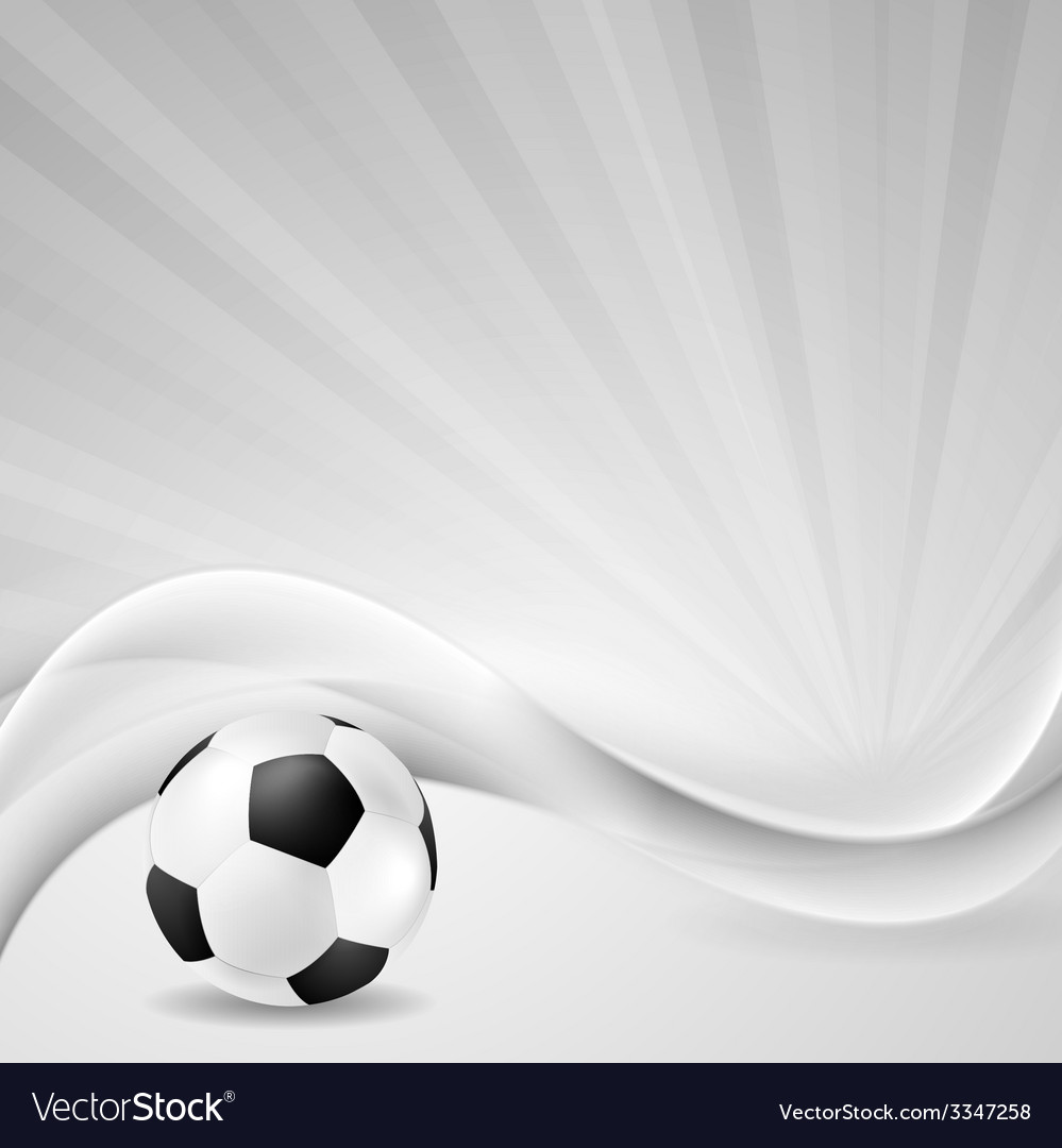 Soccer background with abstract waves vector | Price: 1 Credit (USD $1)