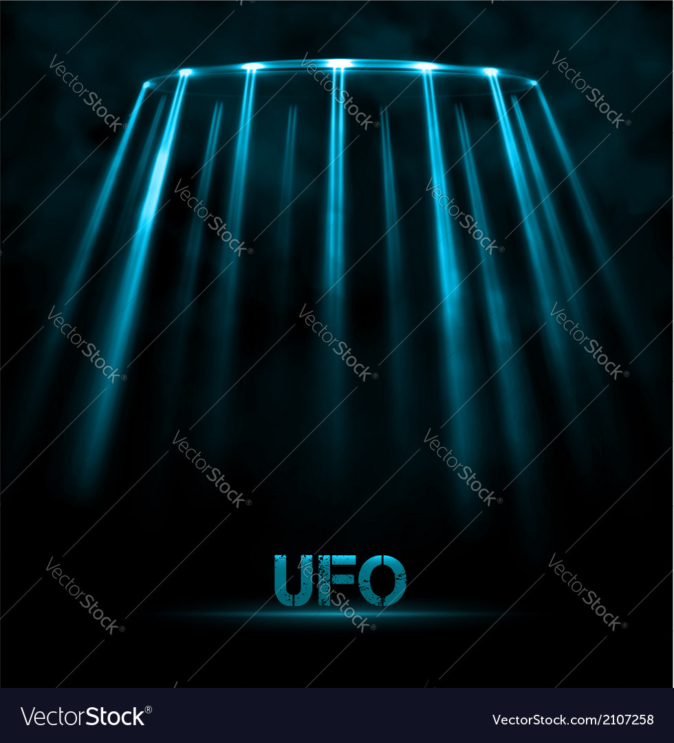 Ufo background vector | Price: 1 Credit (USD $1)