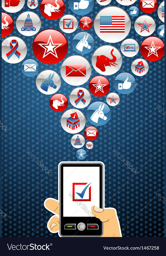 Usa elections online voting vector | Price: 1 Credit (USD $1)