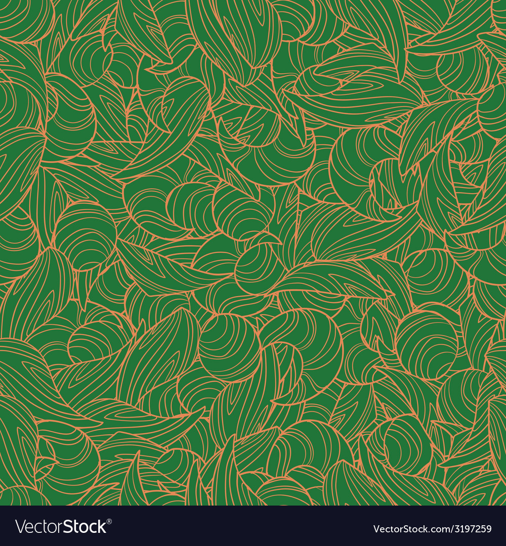 Abstract hand-drawn seamless pattern retro colors vector | Price: 1 Credit (USD $1)