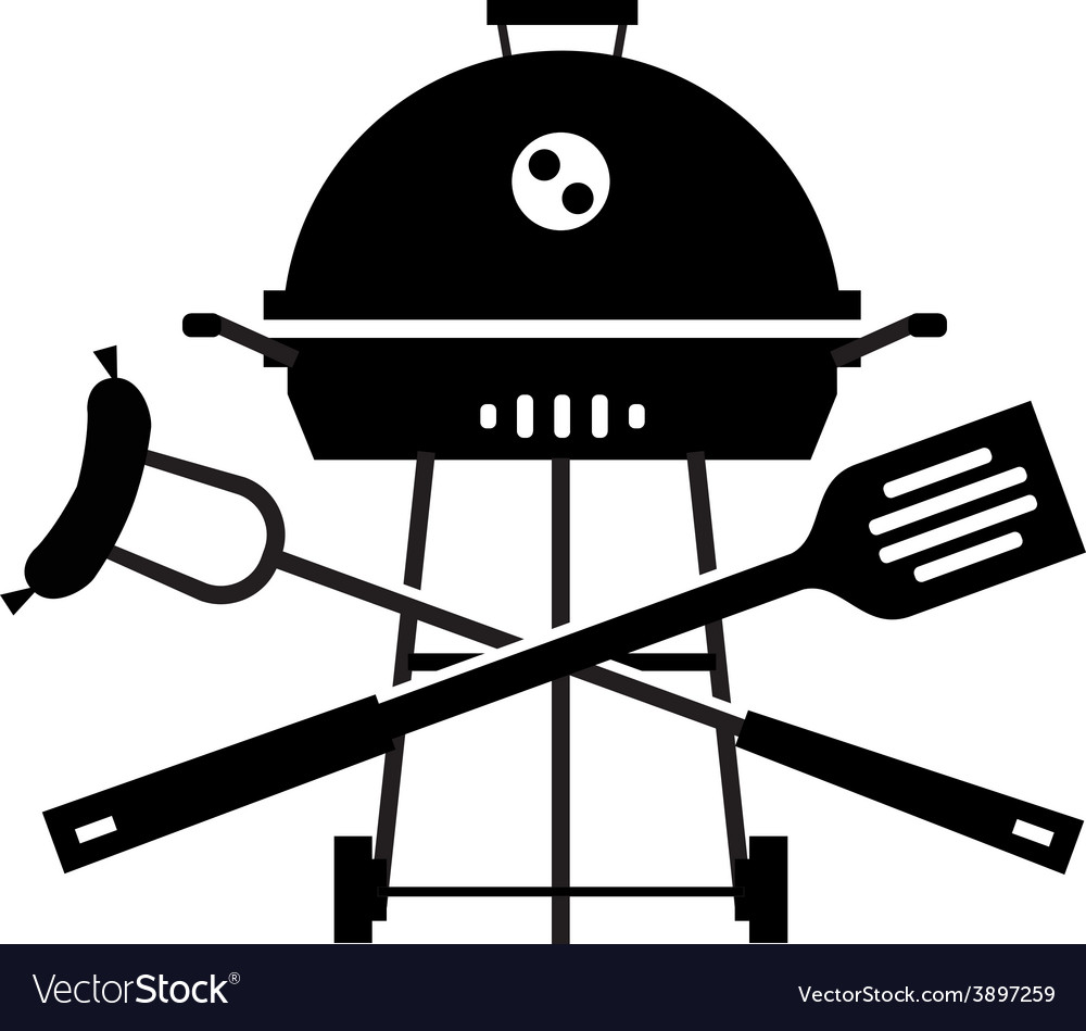 Bbq logo design template grill or cooking vector | Price: 1 Credit (USD $1)