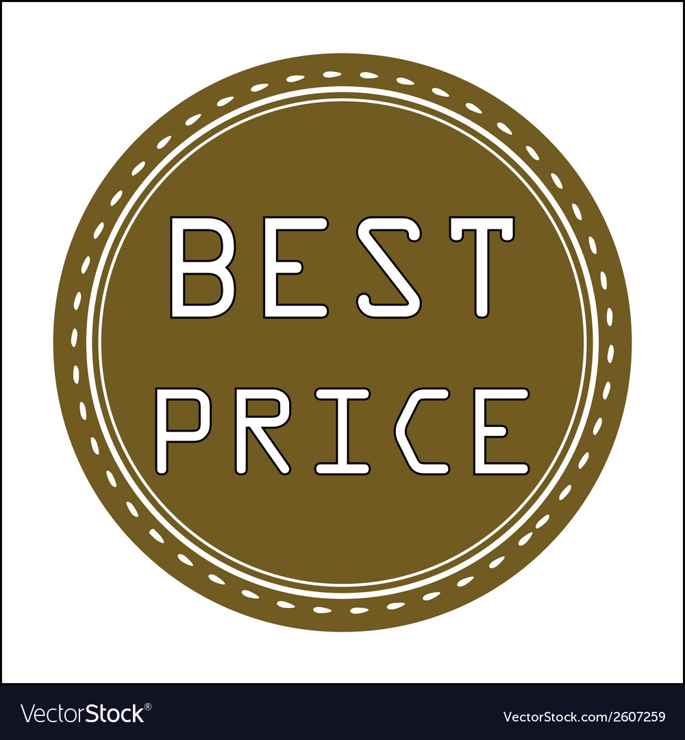 Best price icon badge label or sticke vector | Price: 1 Credit (USD $1)