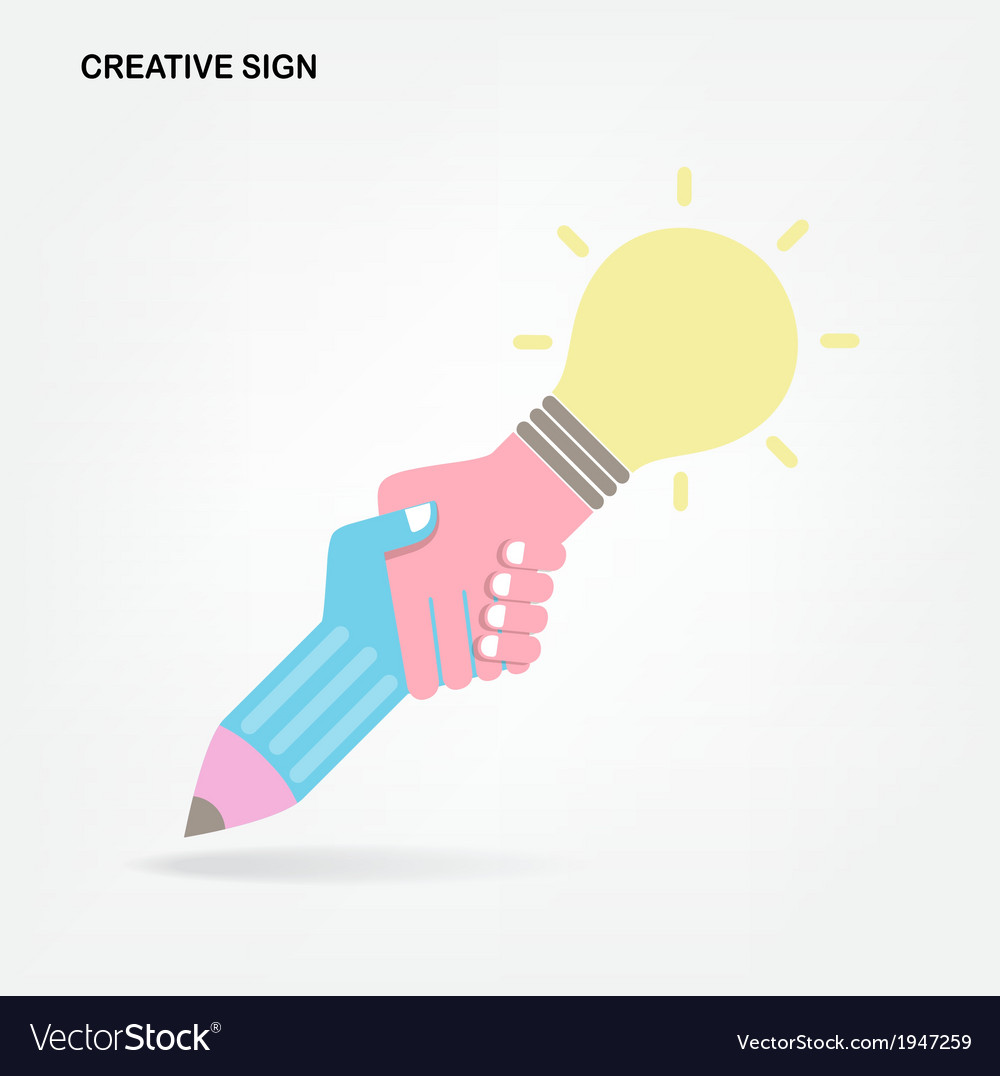 Creative handshake abstract design vector | Price: 1 Credit (USD $1)
