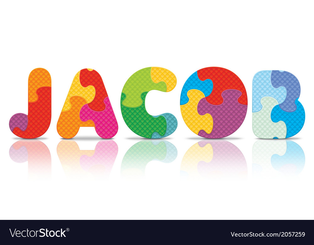 Jacob written with alphabet puzzle vector   Price: 1 Credit (USD $1)