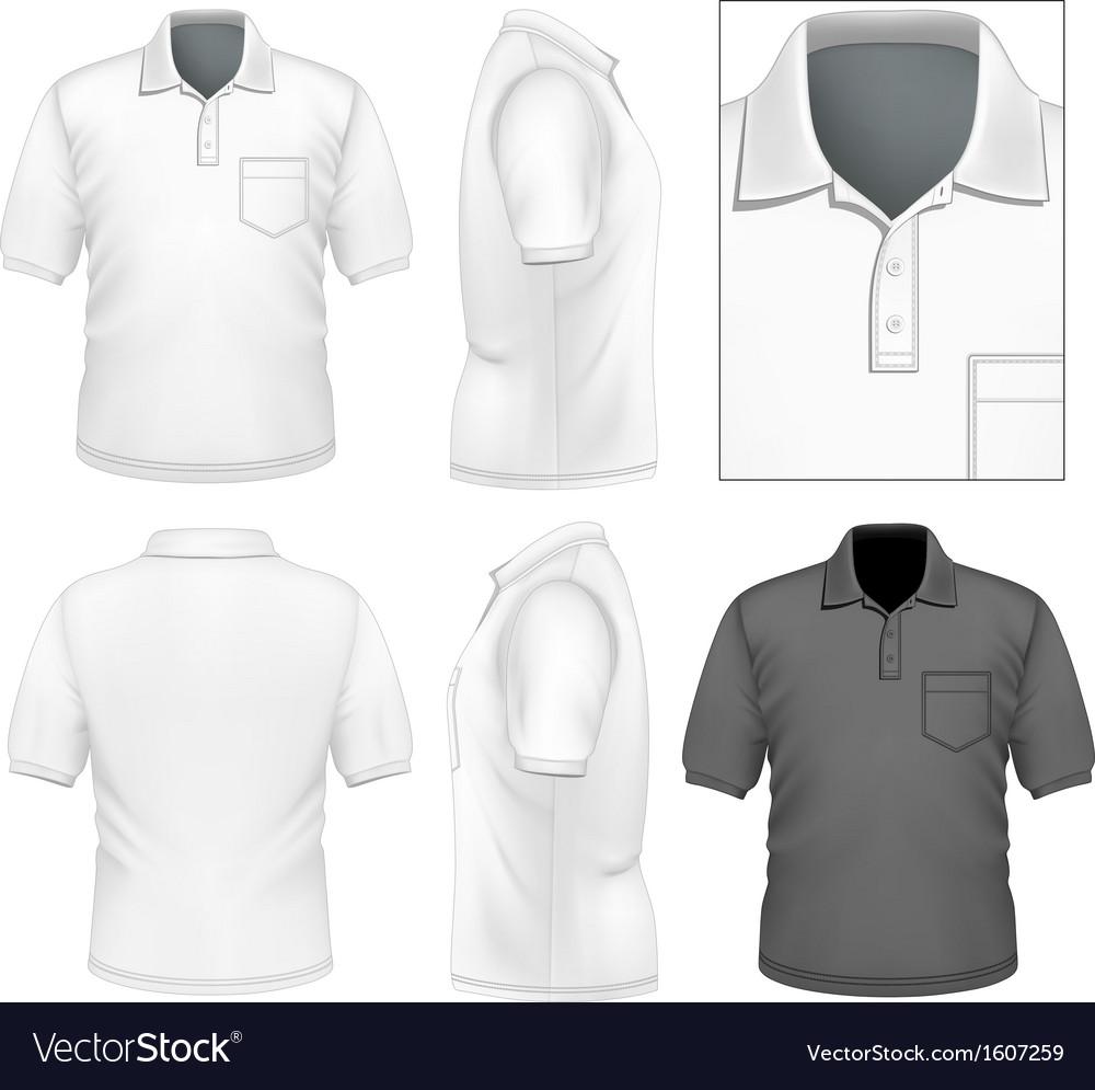 Mens poloshirt design template vector