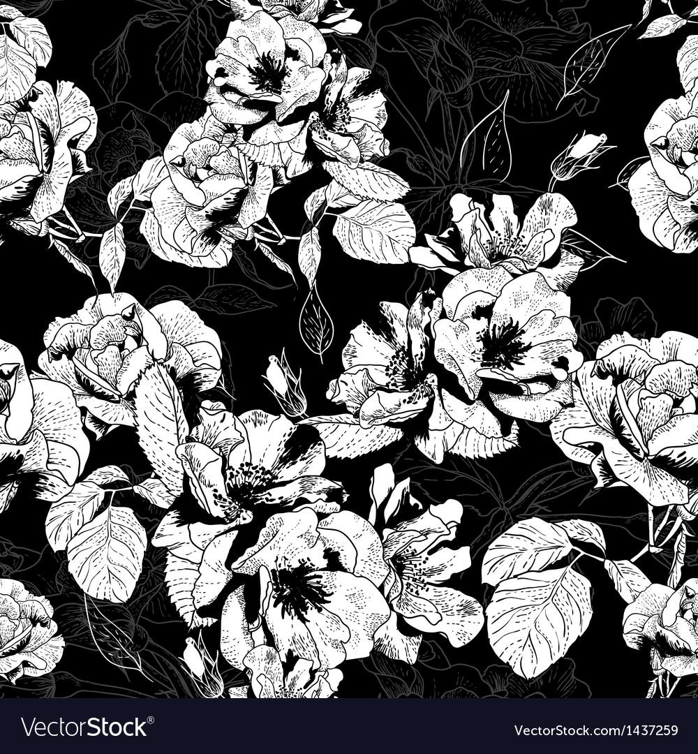 Monochrome seamless pattern vector | Price: 1 Credit (USD $1)