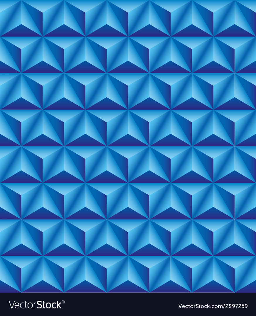 Tripartite pyramid blue seamless texture vector | Price: 1 Credit (USD $1)