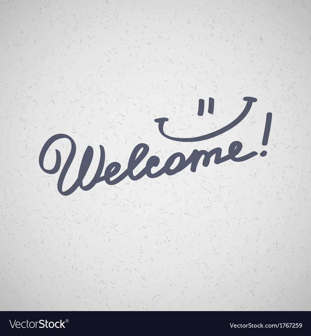 Welcome vector | Price: 1 Credit (USD $1)