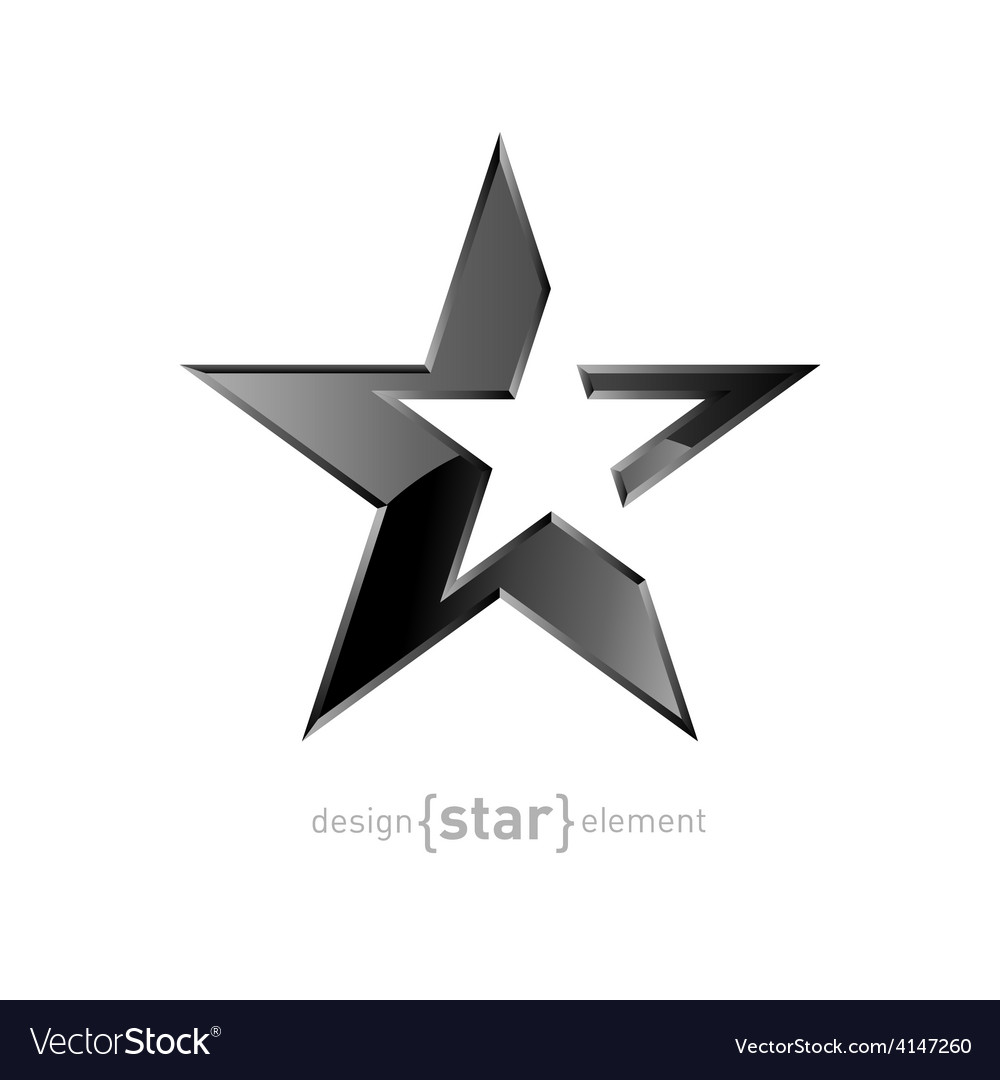 Abstract silver star on white background vector | Price: 1 Credit (USD $1)