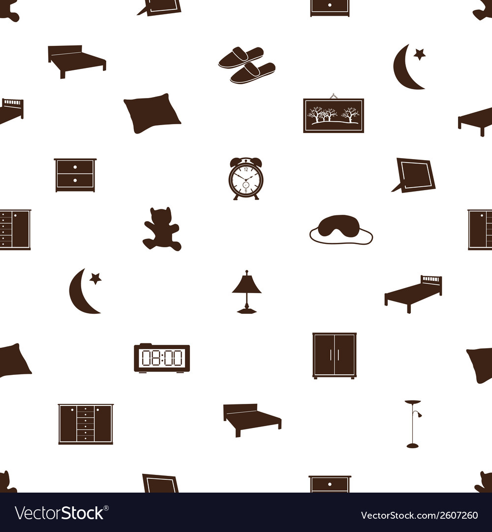Bedroom icons pattenr eps10 vector | Price: 1 Credit (USD $1)