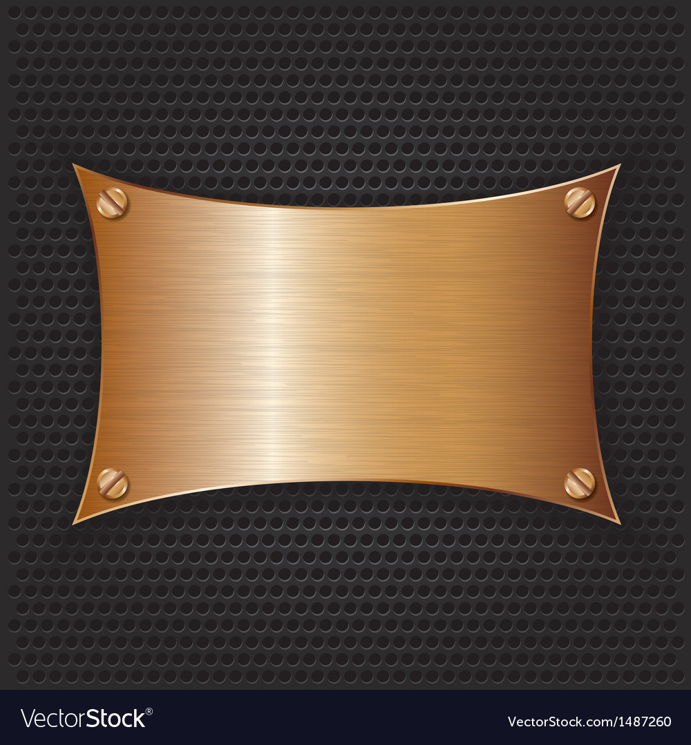 Bronze frame with screws on abstract metallic back vector | Price: 1 Credit (USD $1)