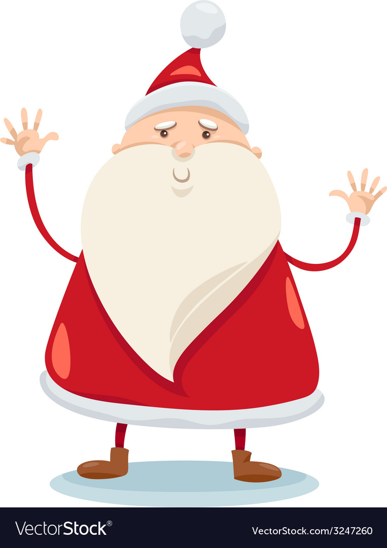 Cute santa claus cartoon vector | Price: 1 Credit (USD $1)