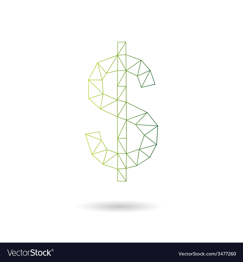 Dollar sign abstract vector | Price: 1 Credit (USD $1)