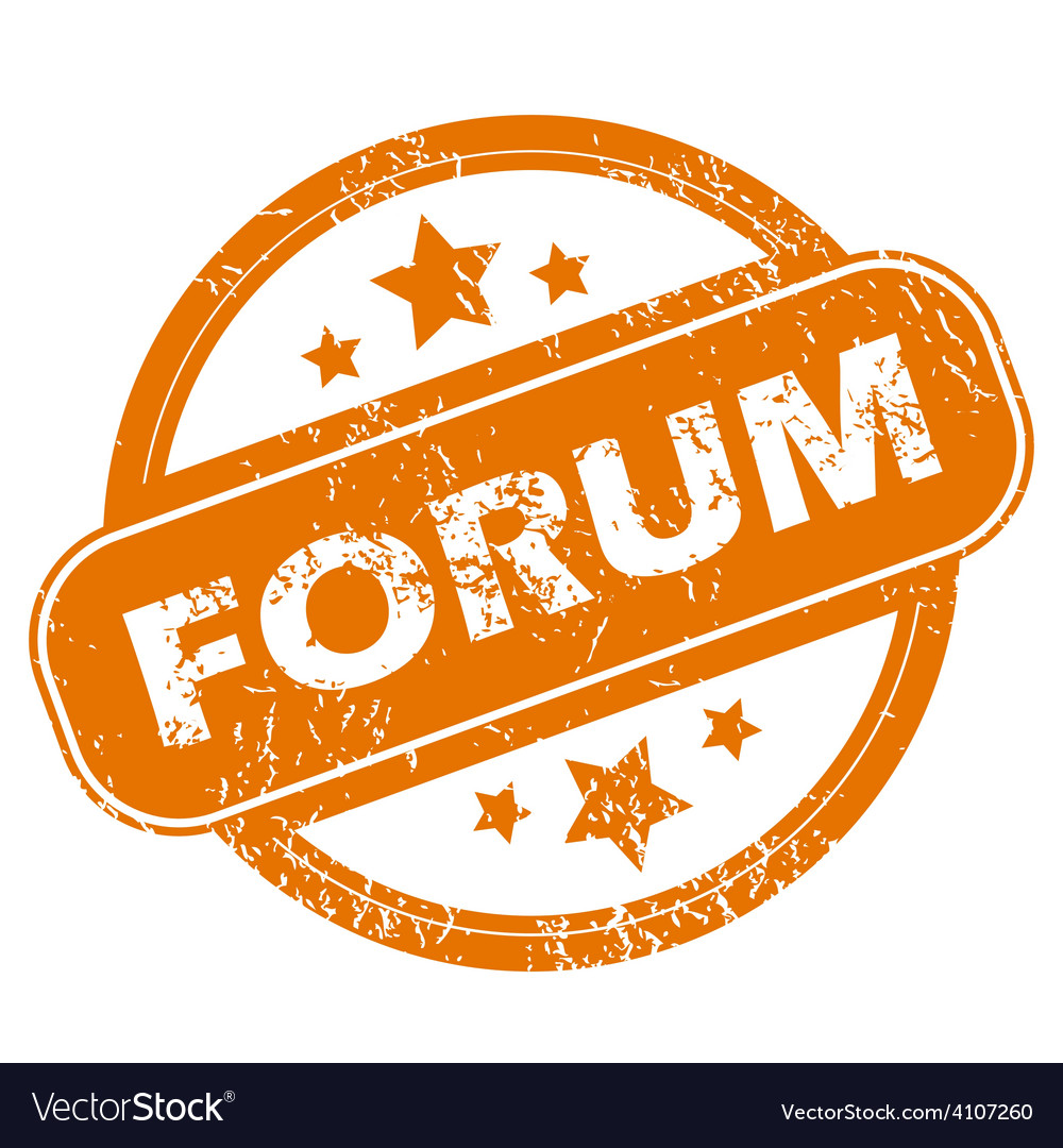 Forum grunge icon vector | Price: 1 Credit (USD $1)