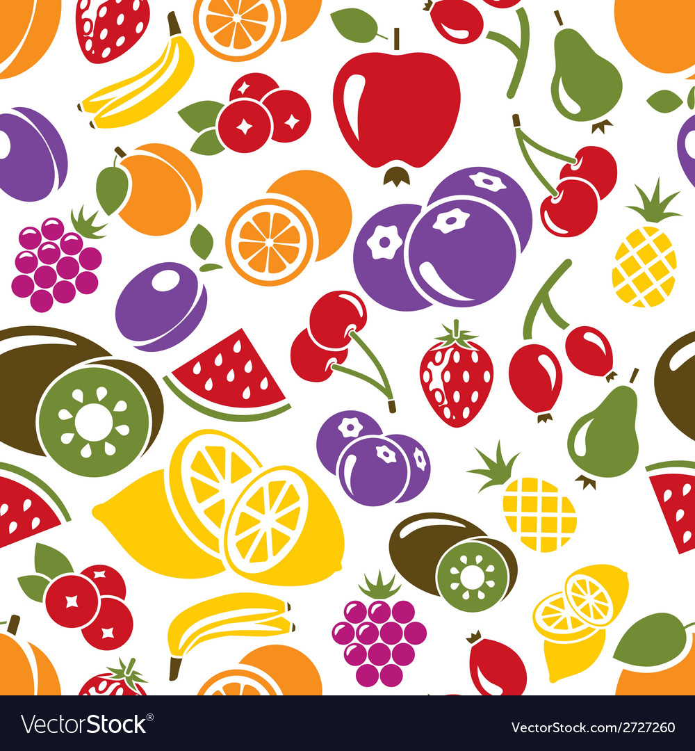 Fruit seamless pattern vector | Price: 1 Credit (USD $1)