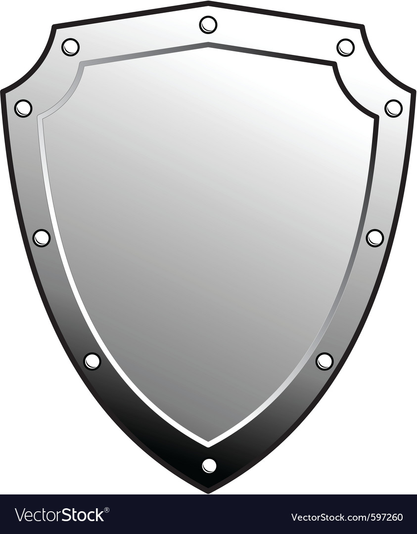 Metal heraldic shield vector | Price: 1 Credit (USD $1)