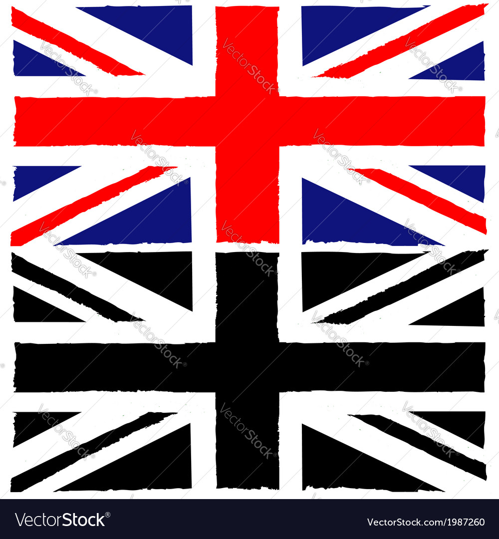 Painted union jack vector | Price: 1 Credit (USD $1)
