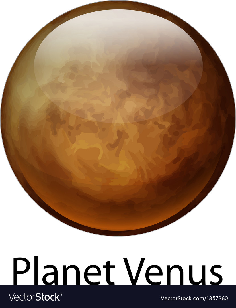 Planet venus vector | Price: 1 Credit (USD $1)
