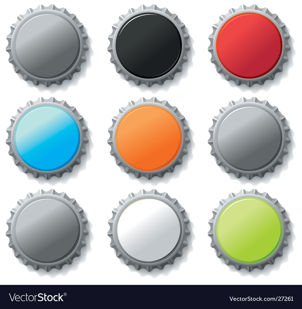 Blank bottle caps vector | Price: 1 Credit (USD $1)
