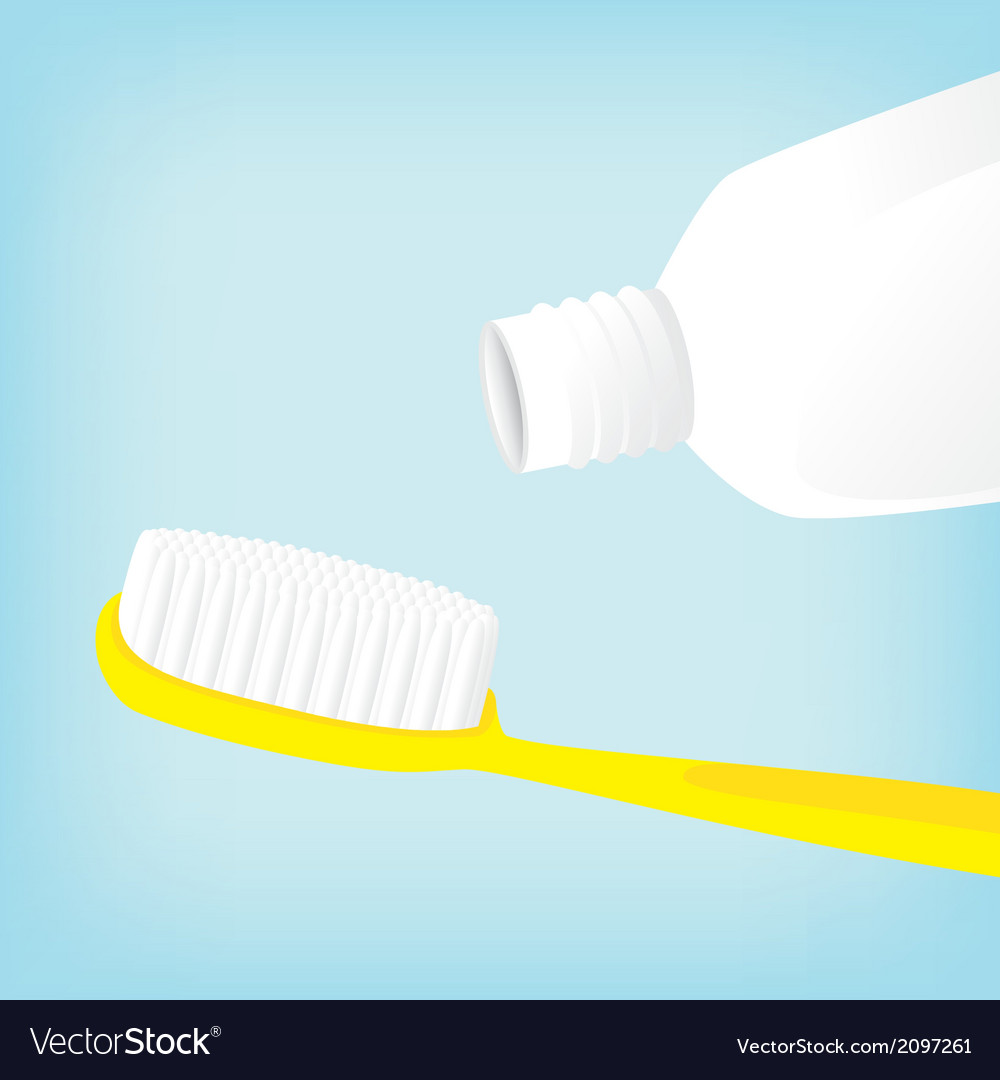 Brush teeth with toothpaste empty vector | Price: 1 Credit (USD $1)