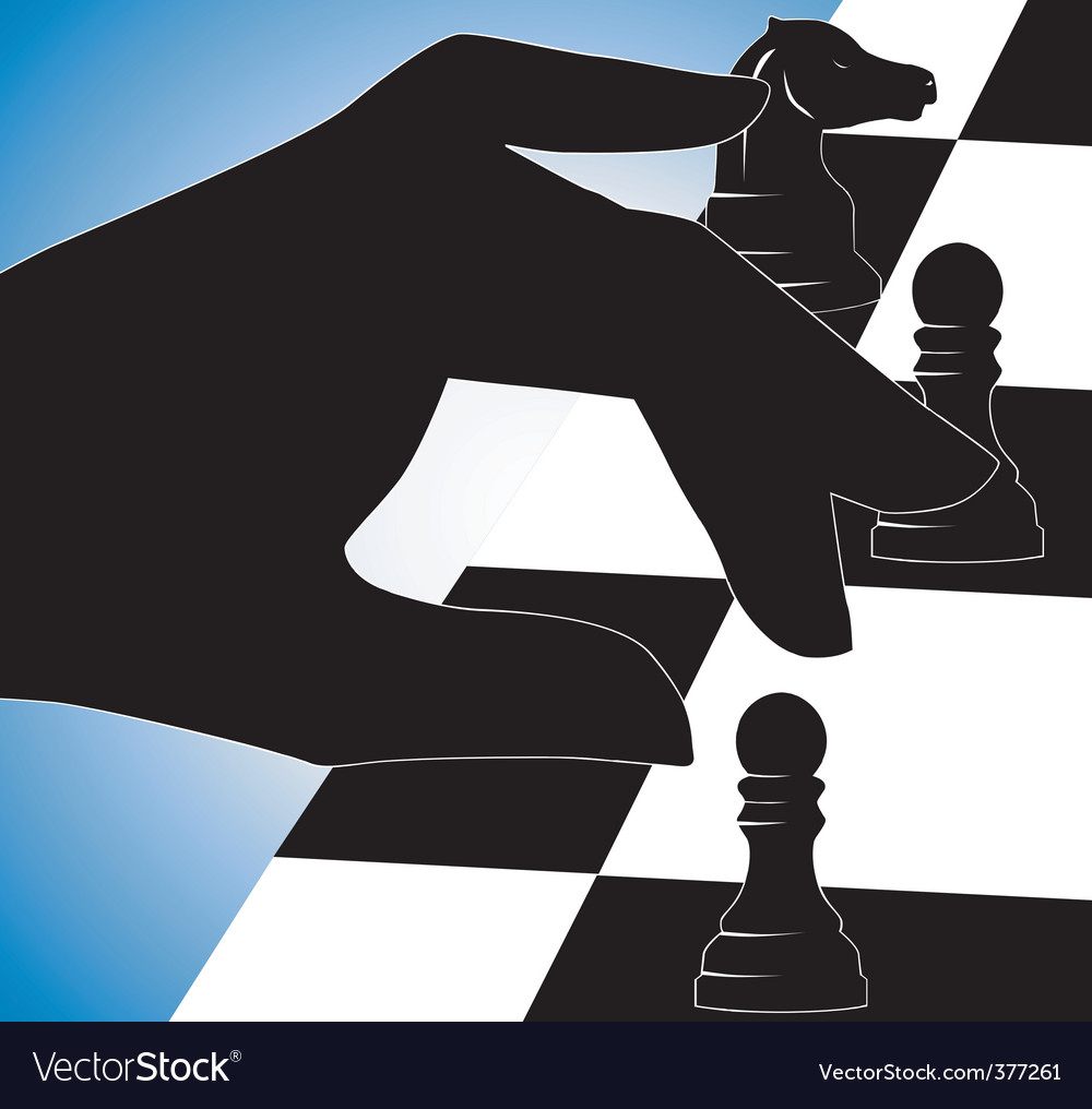 Chess play vector | Price: 1 Credit (USD $1)