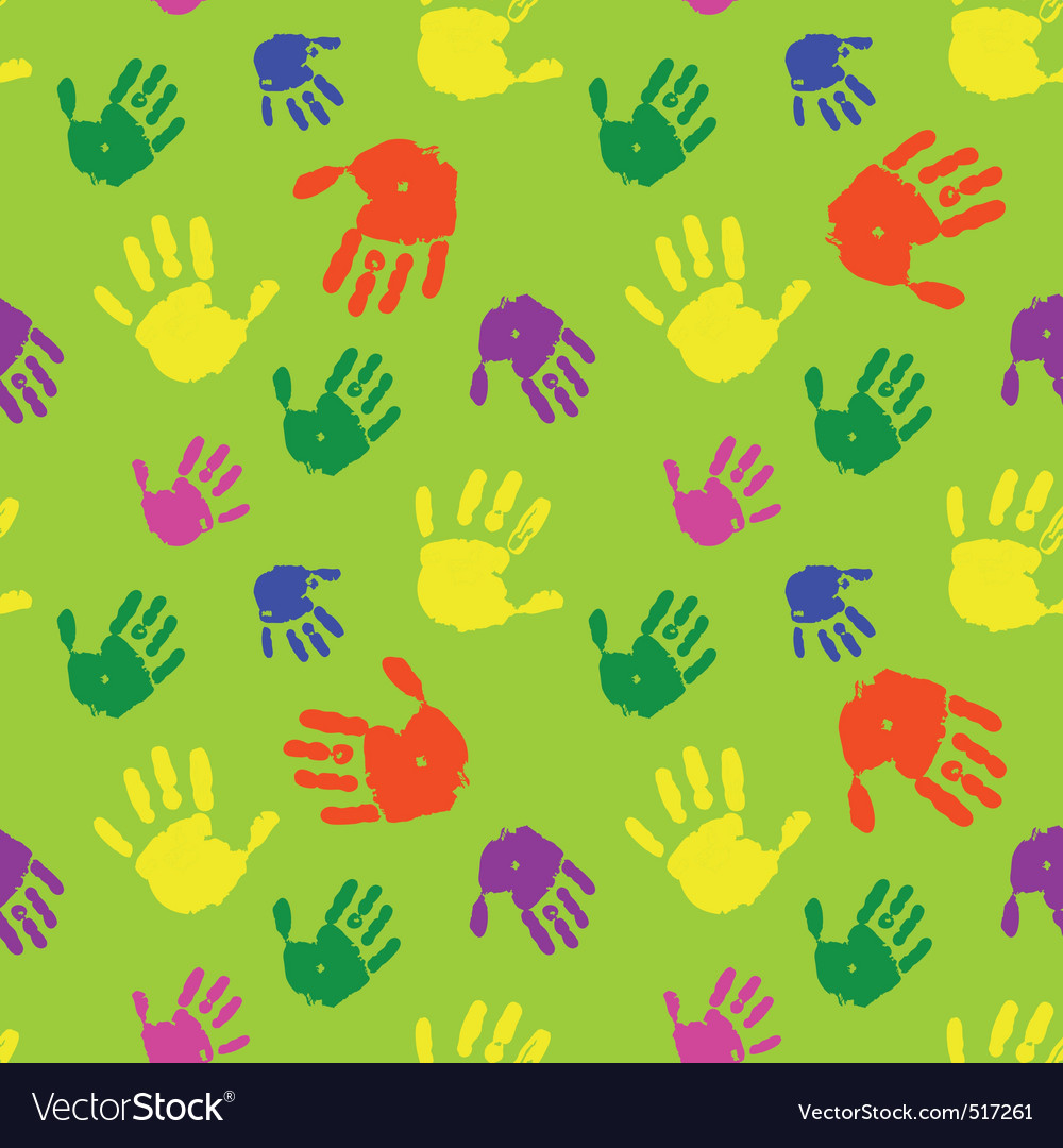Color hands palms background vector