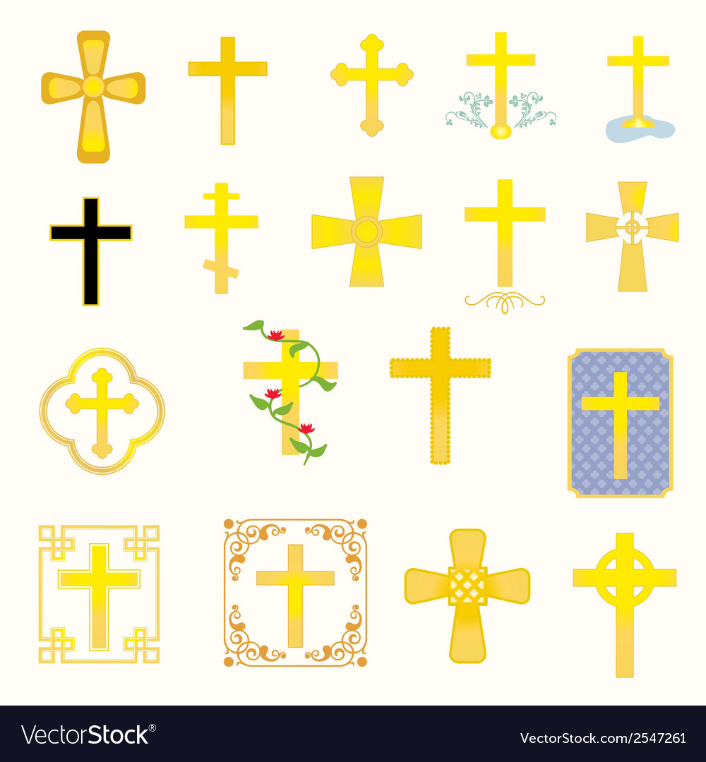 Crosses vector | Price: 1 Credit (USD $1)