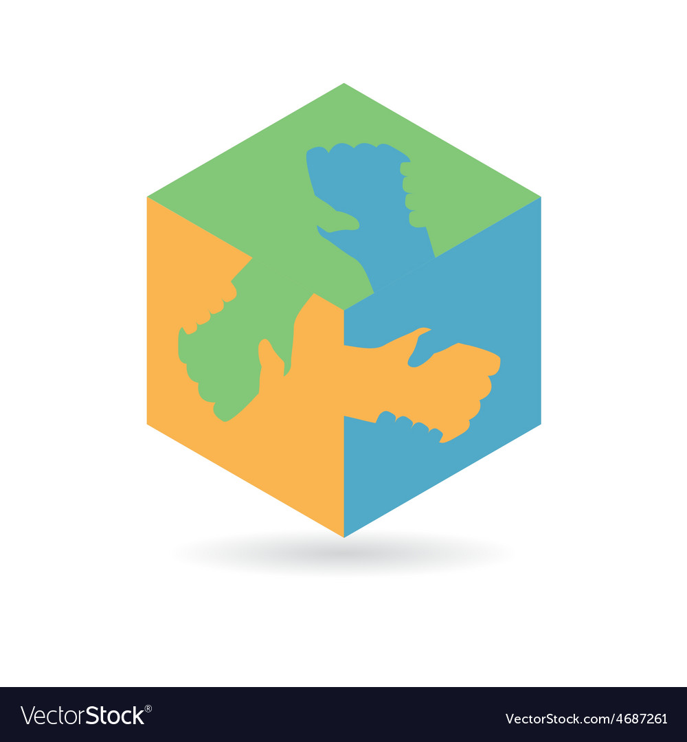 Cube hand vector | Price: 1 Credit (USD $1)