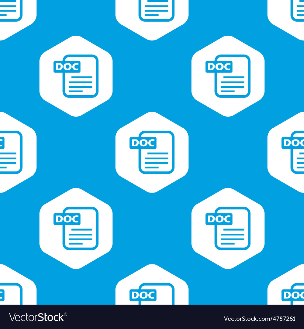 Doc file hexagon pattern vector