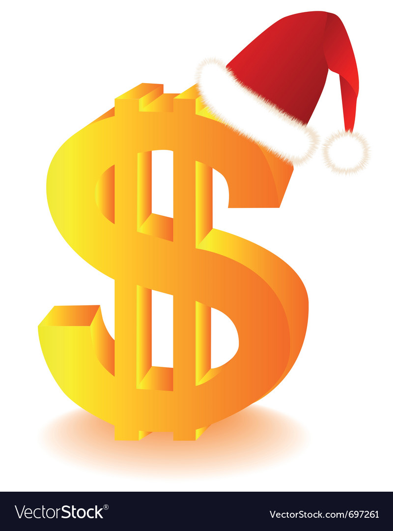 Dollar currency xmas vector | Price: 1 Credit (USD $1)