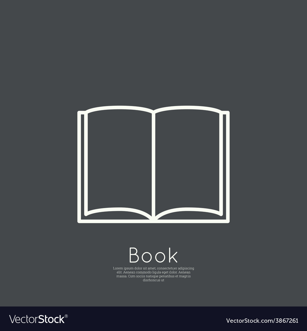 Icon of an open book vector | Price: 1 Credit (USD $1)