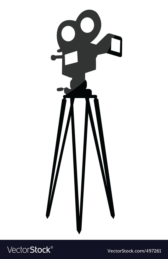 Movie camera vector | Price: 1 Credit (USD $1)