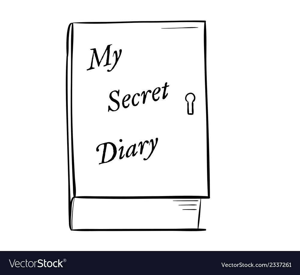 Private diary vector | Price: 1 Credit (USD $1)