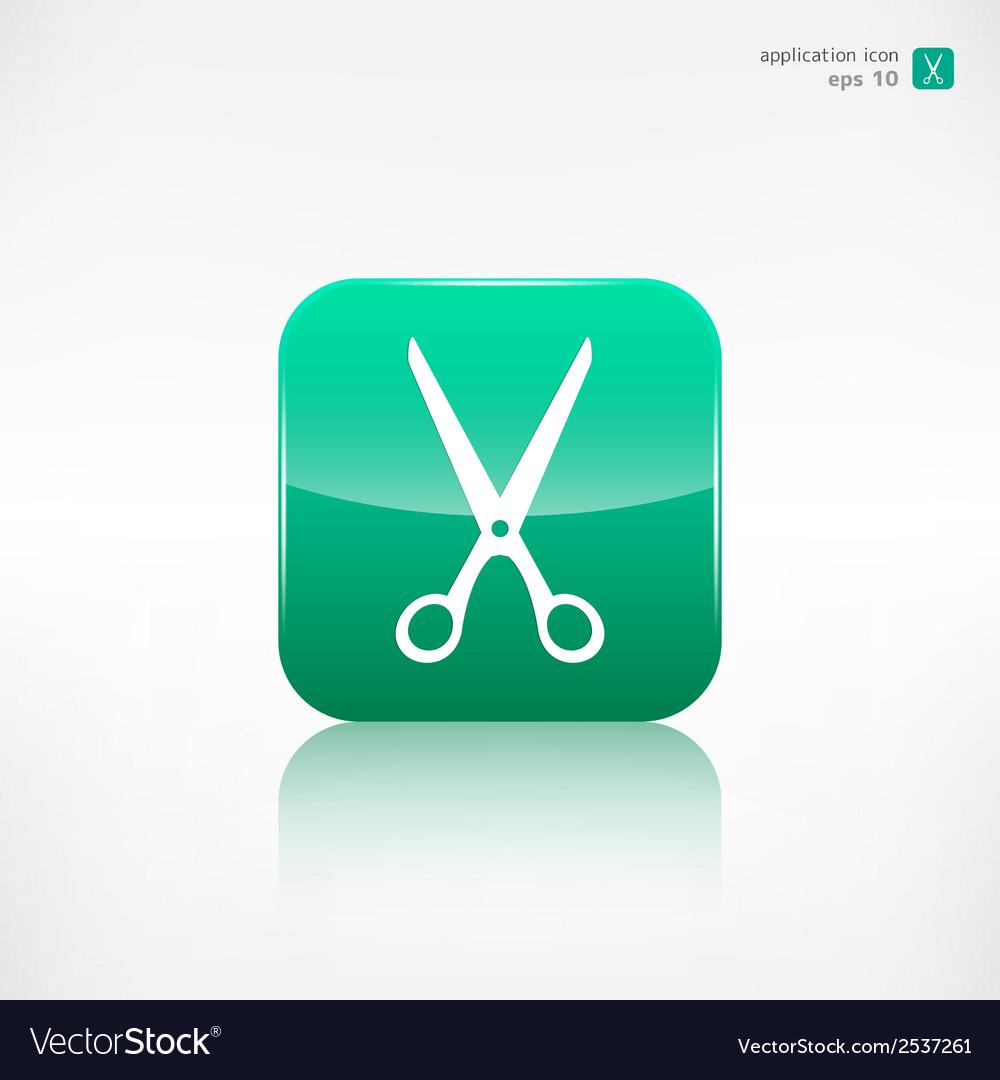 Scissors icon vector   Price: 1 Credit (USD $1)