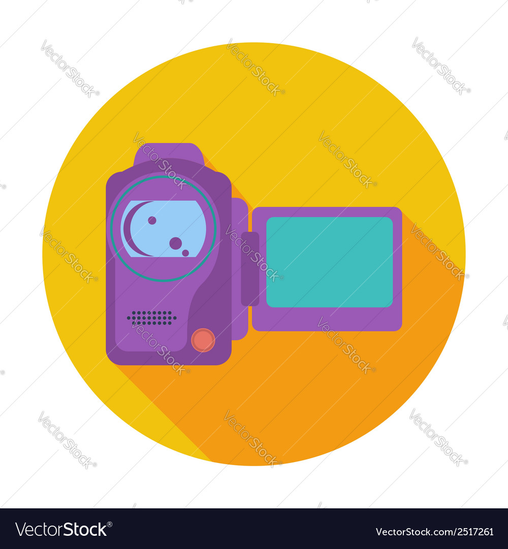 Video camera single icon vector | Price: 1 Credit (USD $1)