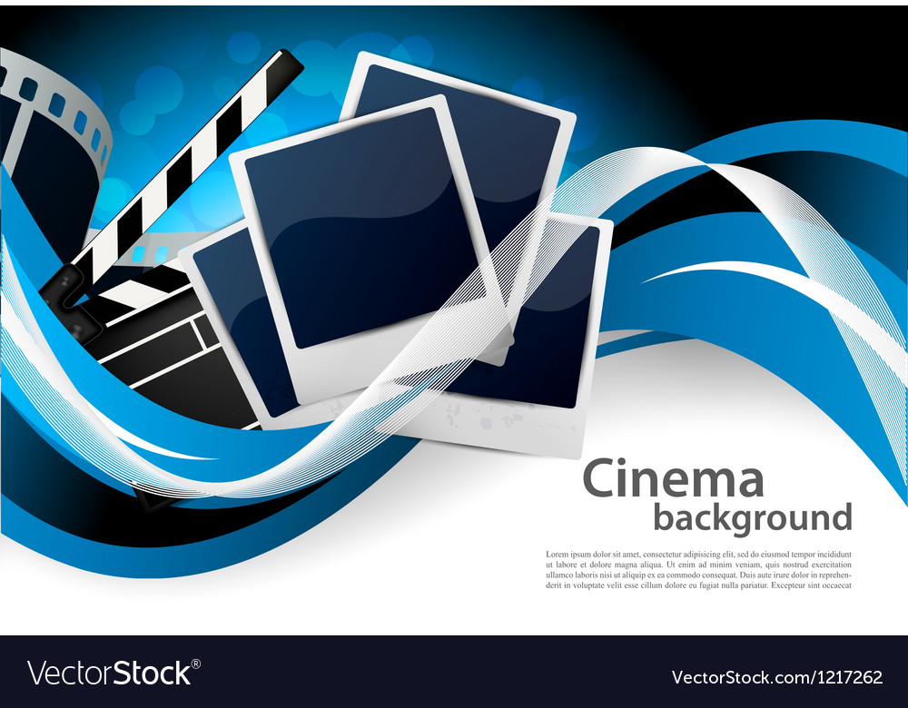 Background with cinema elements vector | Price: 1 Credit (USD $1)