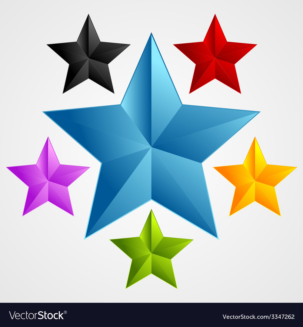 Bright abstract star design vector | Price: 1 Credit (USD $1)