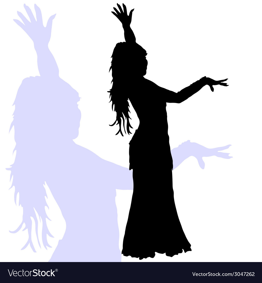 Flamenco dance woman silhouette vector | Price: 1 Credit (USD $1)
