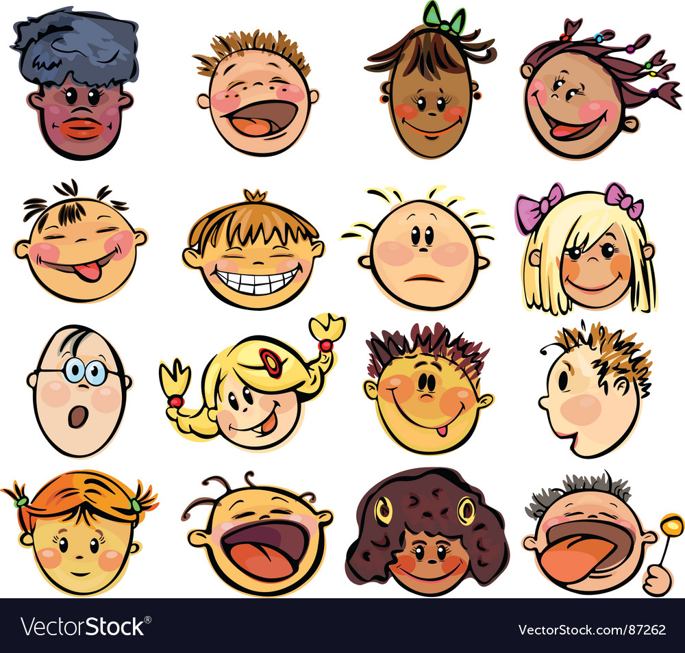 Kids face vector | Price: 3 Credit (USD $3)