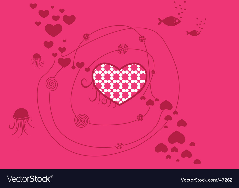 Love in the sea vector | Price: 1 Credit (USD $1)