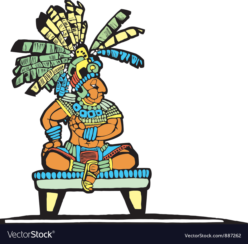Mayan king vector | Price: 1 Credit (USD $1)