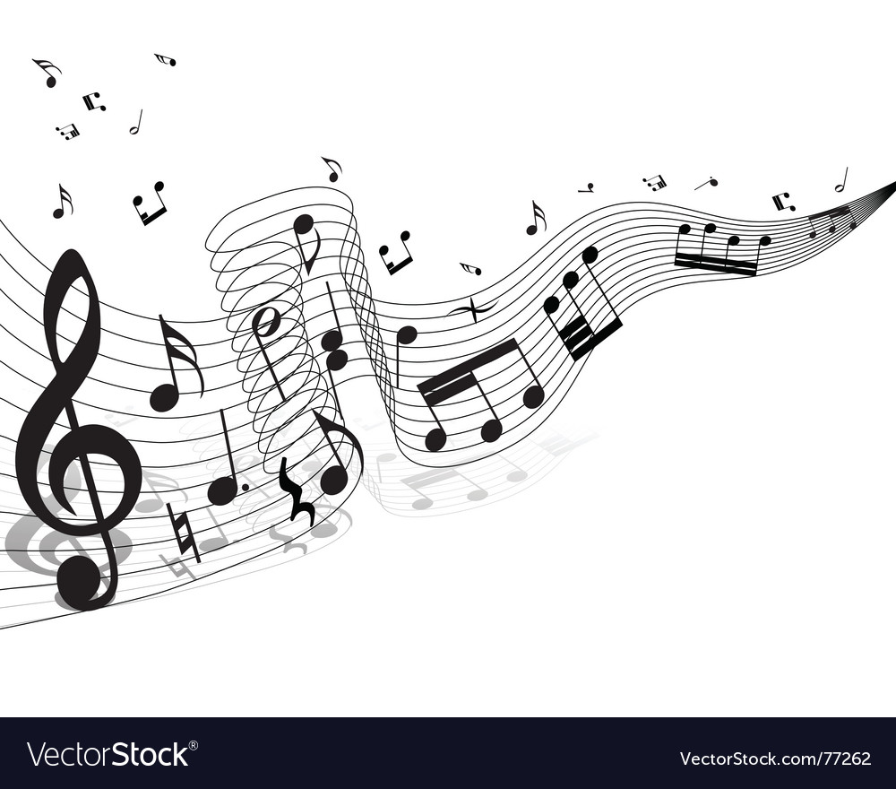 Musical staff theme vector | Price: 1 Credit (USD $1)