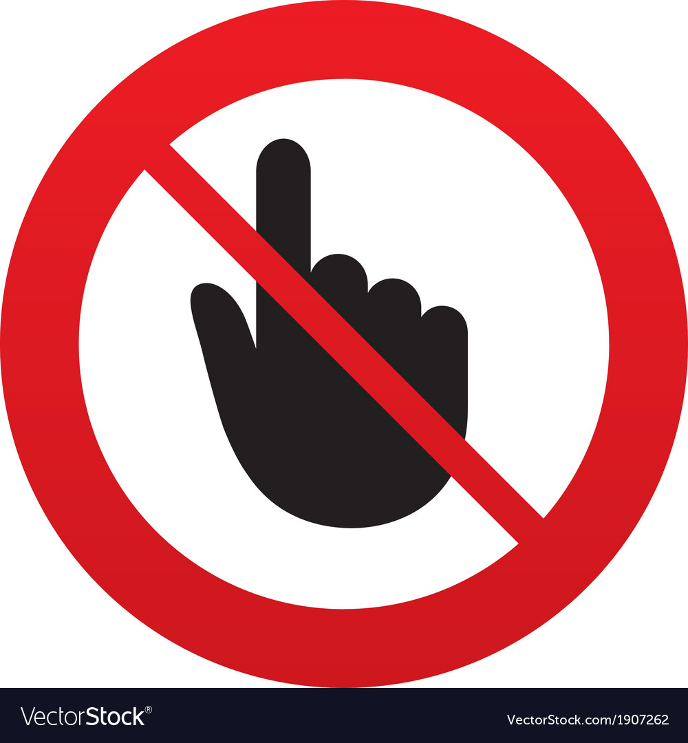 No hand cursor sign icon hand pointer symbol vector | Price: 1 Credit (USD $1)