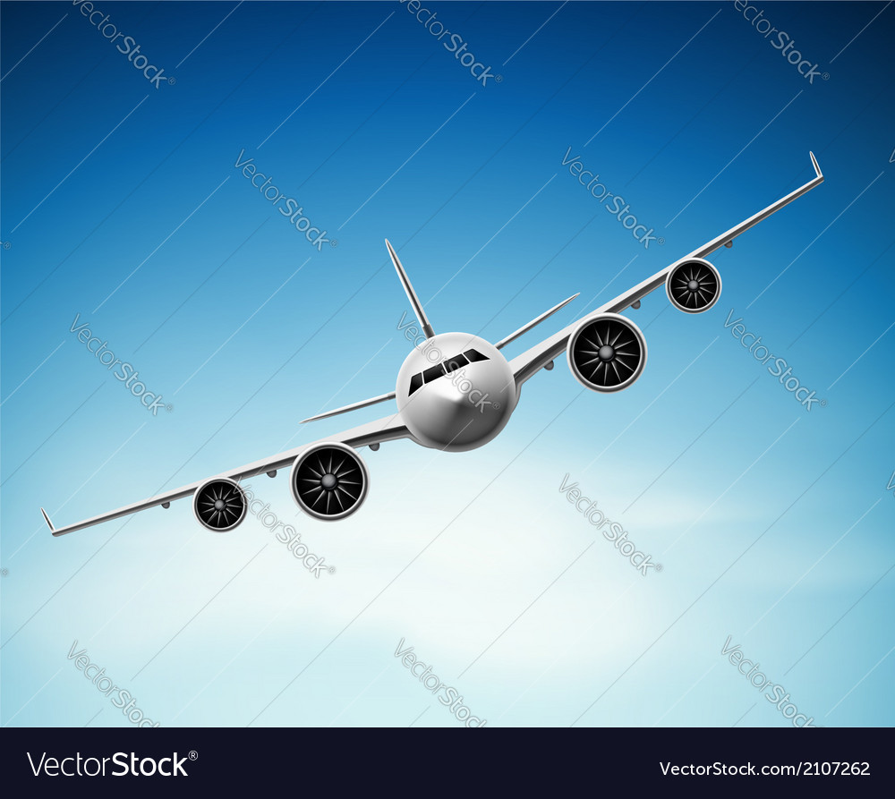 Passenger airplane vector | Price: 1 Credit (USD $1)