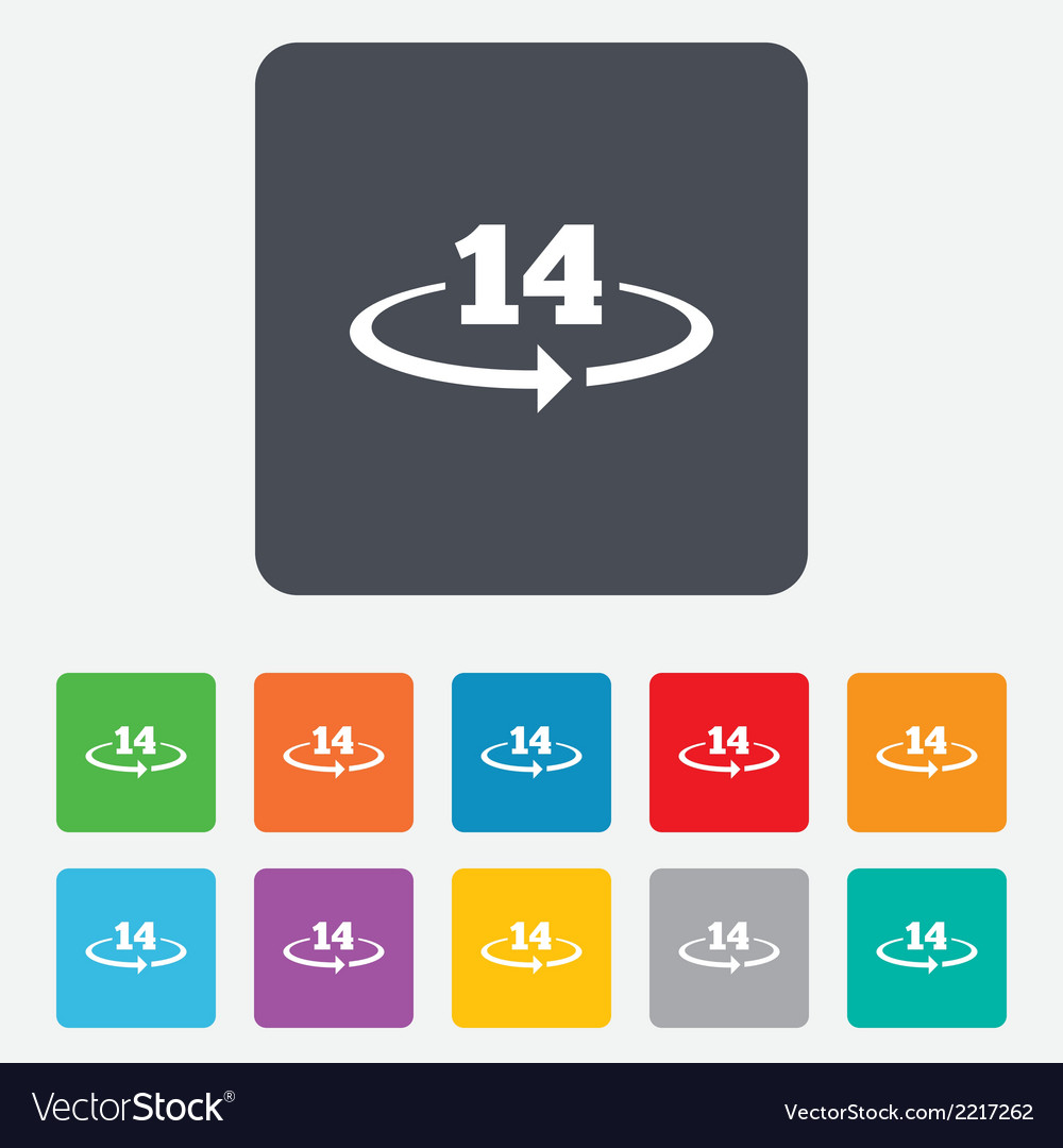 Return of goods within 14 days sign icon vector | Price: 1 Credit (USD $1)
